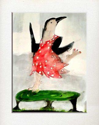 Tanzen, gluecklich, frei, rotes Kleid, Freude