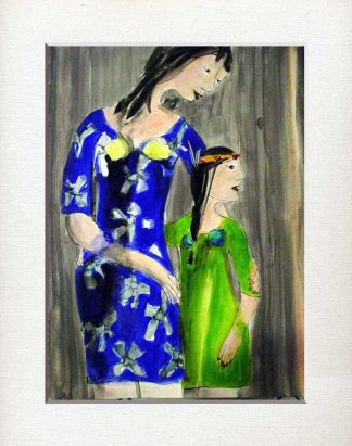 Tochter, Mutter, begleitet, achtsam, frei